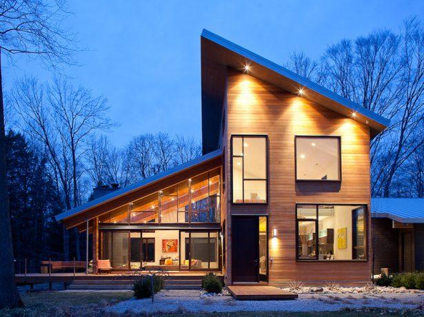 Односкатная крыша дома