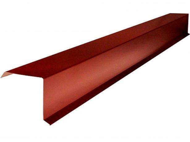 Вариант торцевой планки крыши