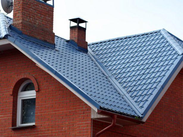 Ендова на внутреннем изломе крыши