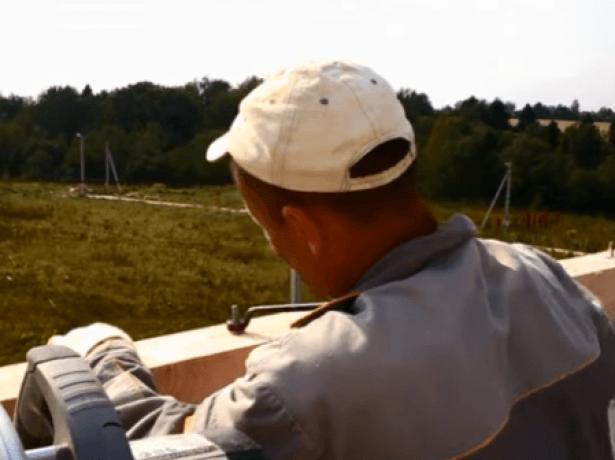 Крепление мауэрлата на резьбовые шпильки