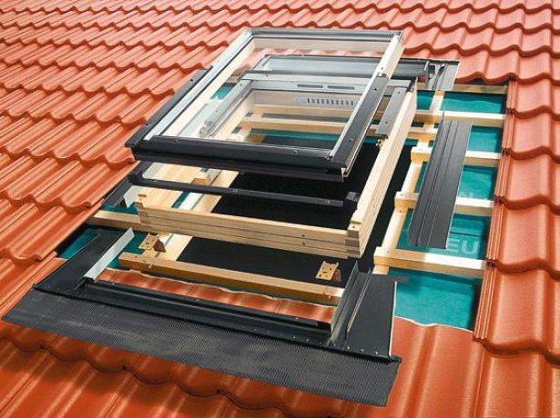 Очерёдность установки элементов мансардного окна