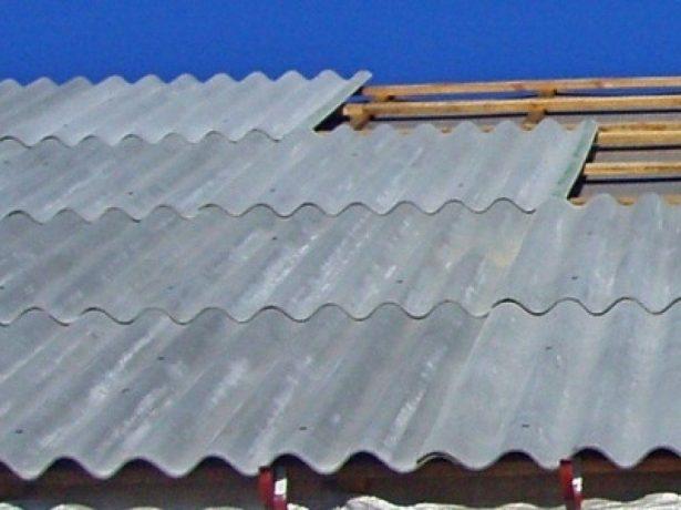 Односкатная крыша из шифера