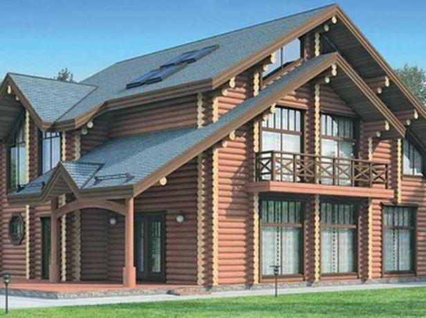 Дом в традициях деревянного зодчества: общий вид