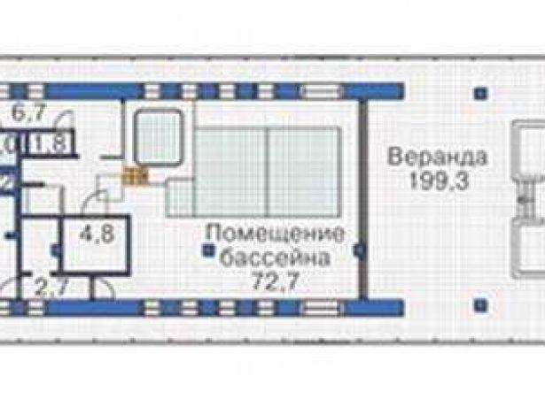 Дом в виде корабля: план цокольного этажа