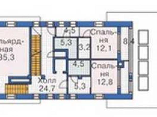 Дом в виде корабля: план второго этажа
