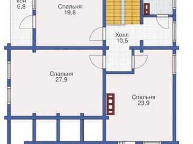 Практичный дом из бруса: план мансарды