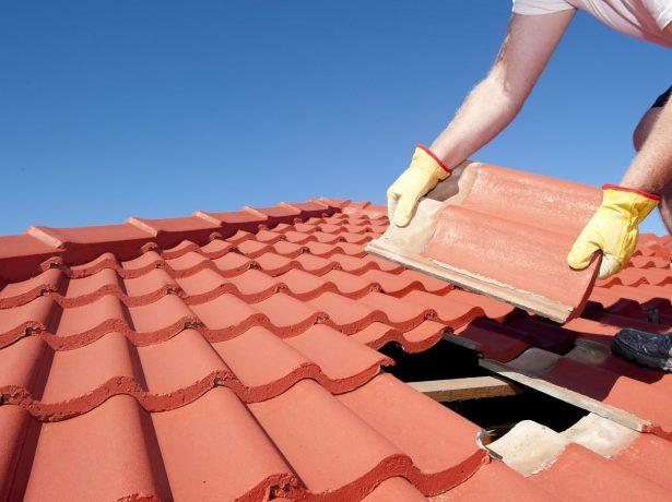 Монтаж крыши из керамической черепицы