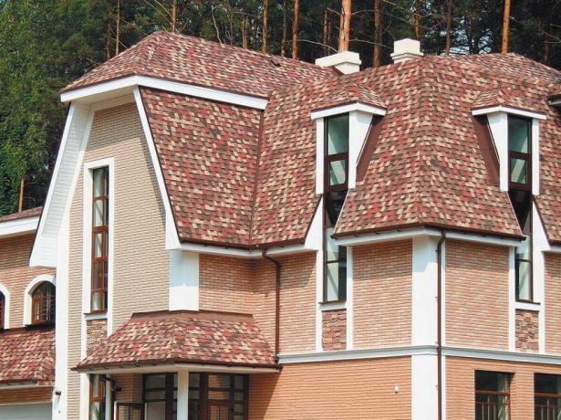 Крыша из мягкой битумной черепицы