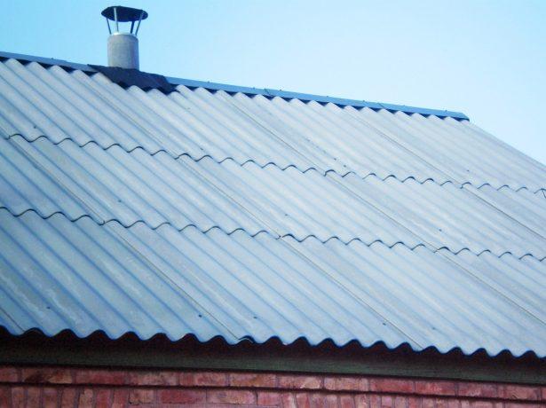 Уклон шиферной крыши