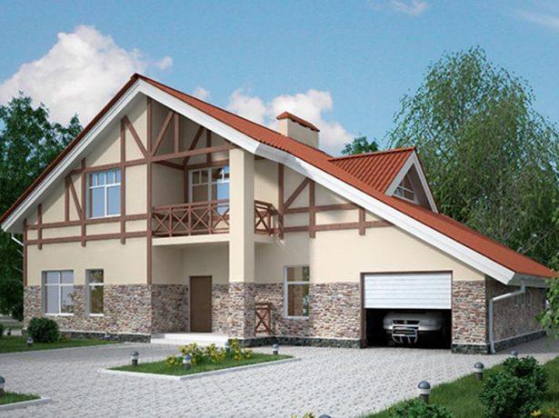 Двухскатная крыша с разными углами наклона