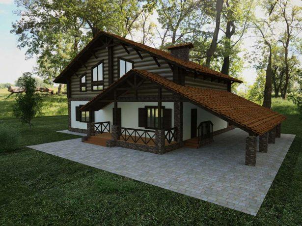 Крыша-шале