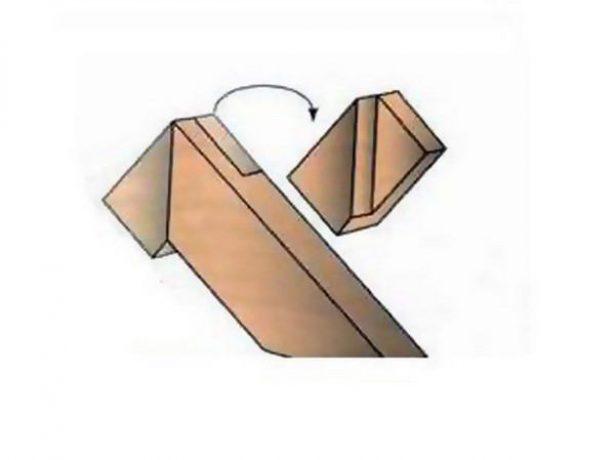 Коньковый узел «в полдерева»