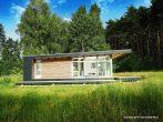 Лаконичный одноэтажный дом с односкатной крышей