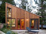 Классический дом с односкатной крышей