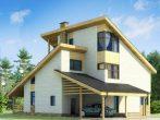 Дом с тремя односкатными крышами
