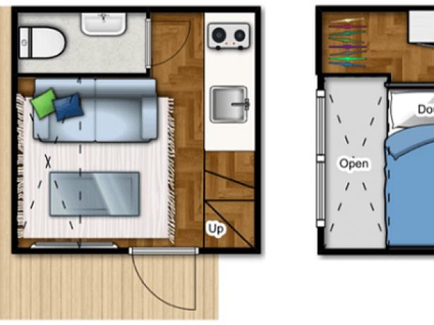 Планировка малогабаритного дома