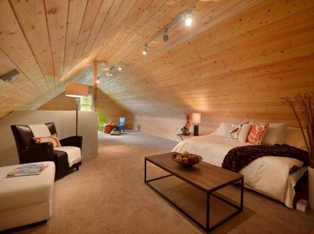 Оформление гостиной комнаты в загородном доме