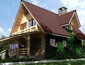 Крыша деревянного дома