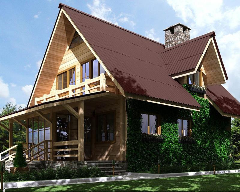 Как самостоятельно построить кровлю деревянного дома