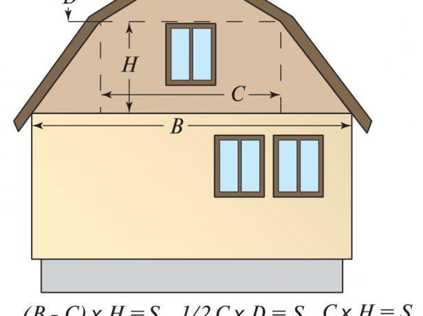 Расчёт площади фронтона