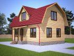 Дом с мансардой с ломаной крышей