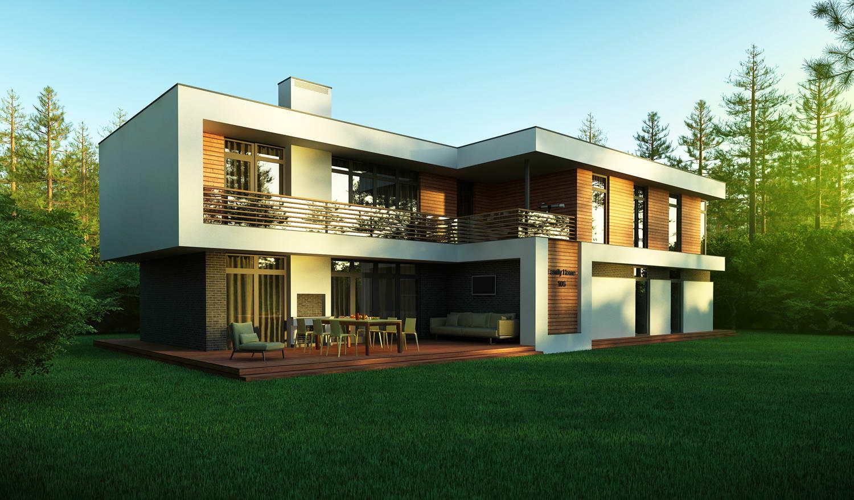 Дома с плоской крышей, их виды и особенности обустройства