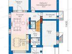 План дома с плоской крышей