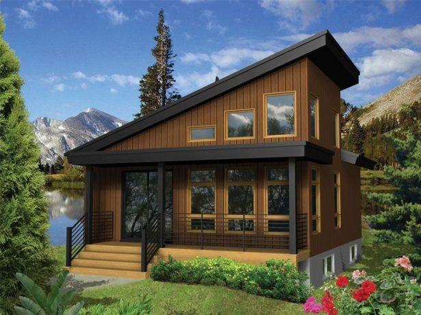 Дом с односкатной крышей и мансардой