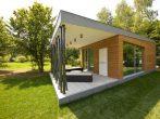 Дачный дом с односкатной крышей