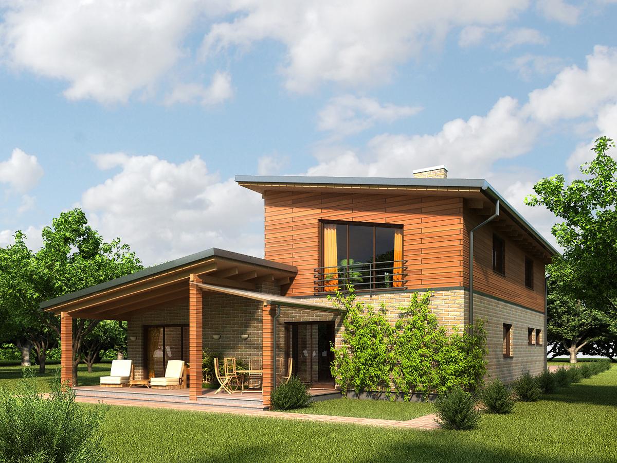 Дома с односкатными крышами фото