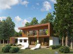 Финский дом с террасами