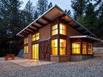 Дом в стиле модерн с двумя односкатными крышами