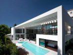 Белый дом в стиле хай-тек