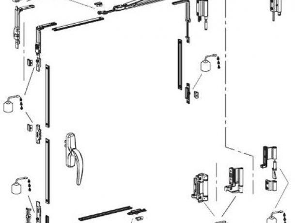 Схема смазывания деталей пластиковой двери