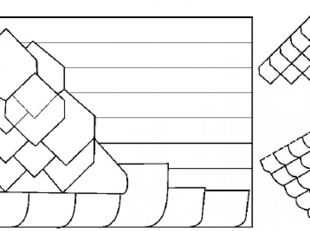 Схема укладки медной шашки