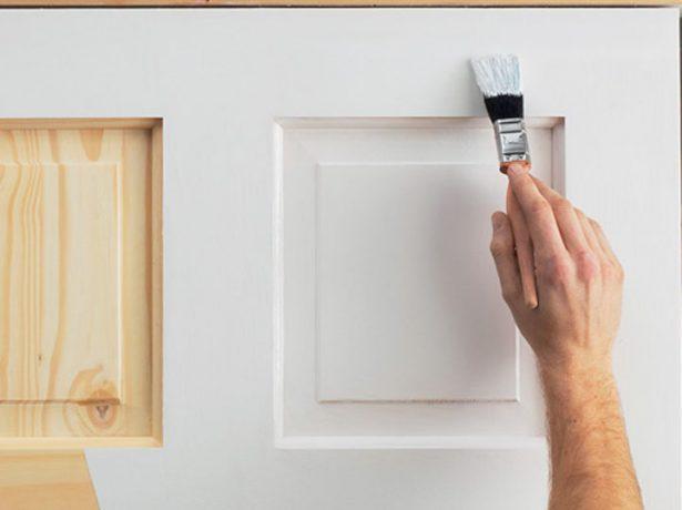 Окрашивание филёнчатой двери