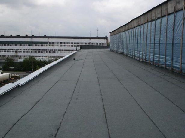 Крыша, покрытая рубероидом