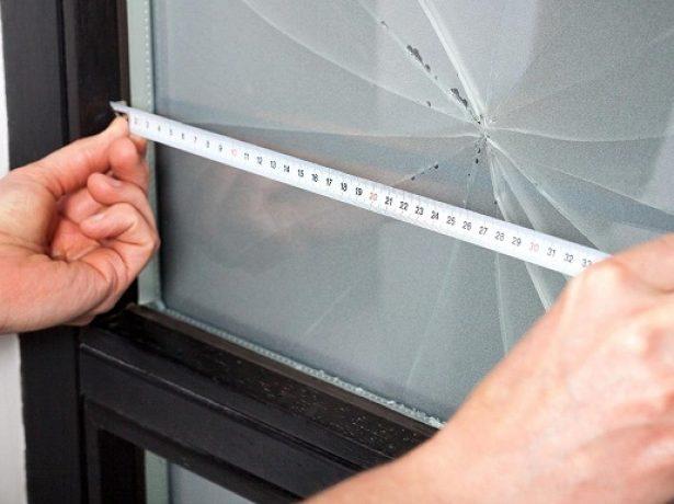 Снятие размеров стекла
