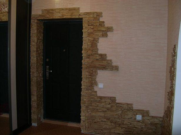 Отделка дверного проёма камнем