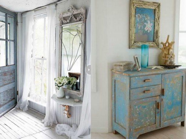 Входная дверь и мебель под старину