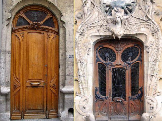 Входные двери под старину со стеклянными вставками