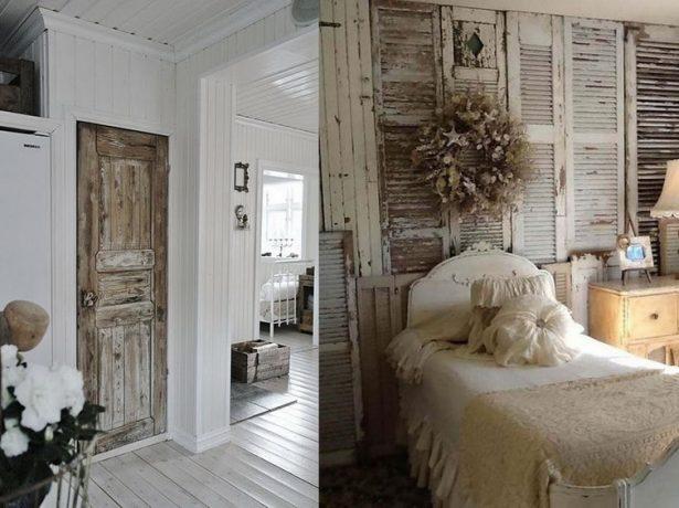 Состаренная входная дверь и окно