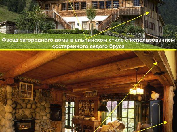 Загородный дом в альпийском стиле
