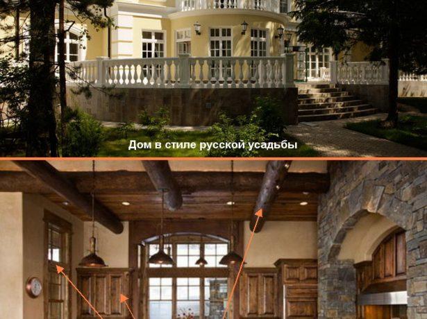 Стиль русской усадьбы в экстерьере и интерьере загородного дома