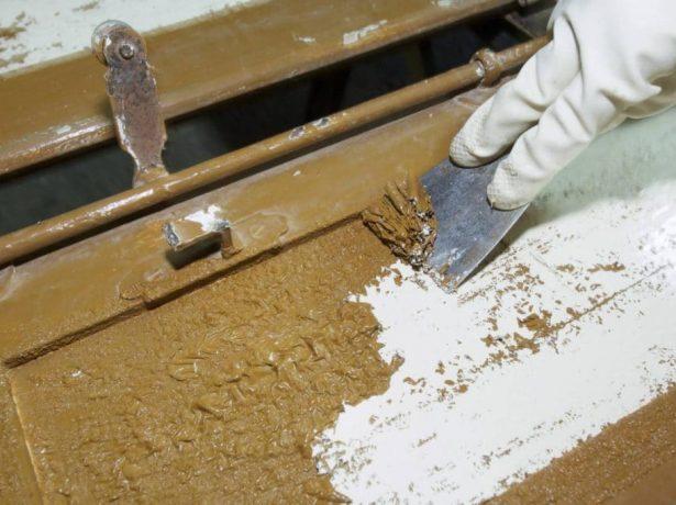 Удаление краски химическим способом