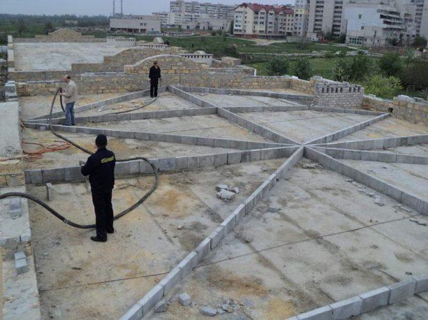 Бетонная стяжка крыши