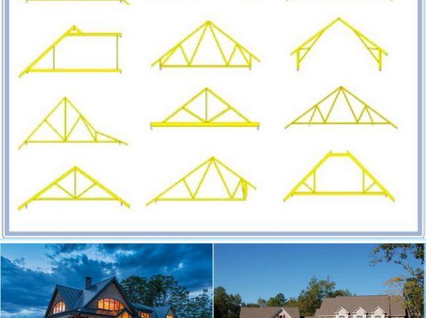 Необычные стропильные конструкции двускатных крыш
