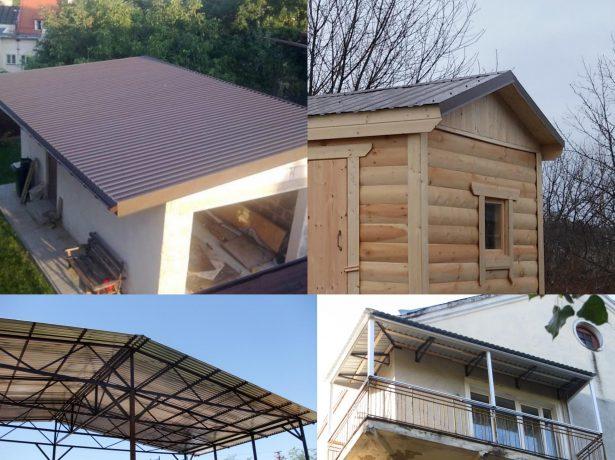 Металлические крыши с малым углом наклона