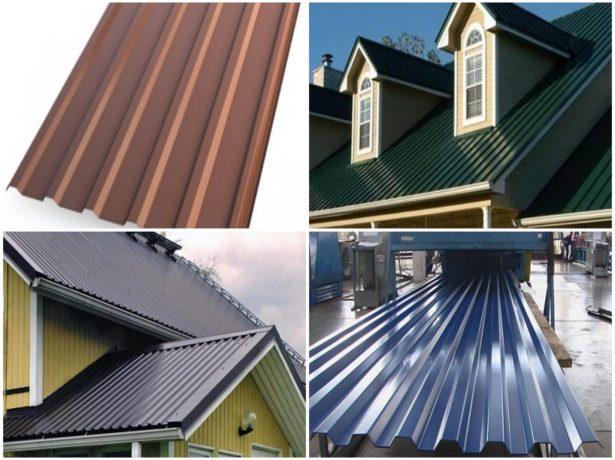Скатные металлические крыши и листы профнастила
