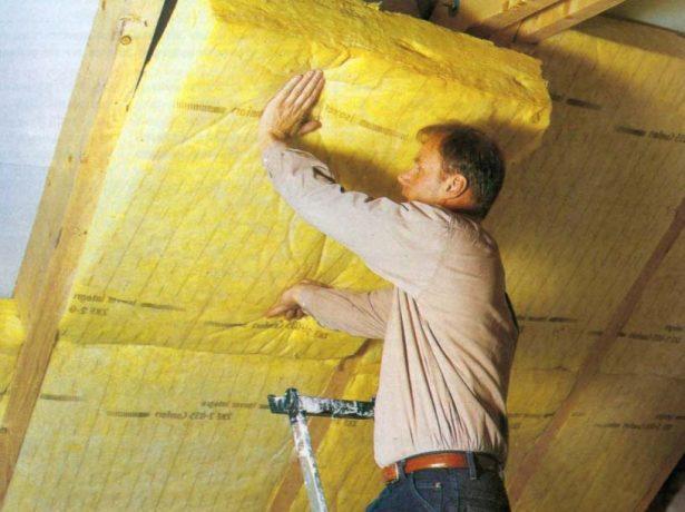 Утепление крыши минеральной ватой изнутри